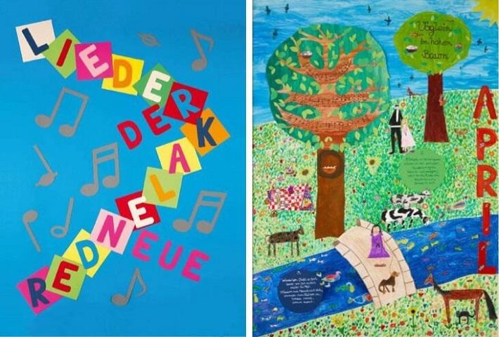 Neuer Liederkalender Titelblatt Kalenderblatt April