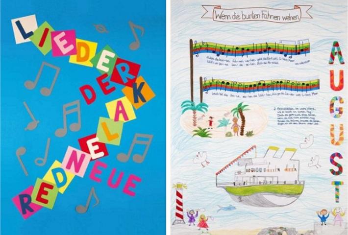 Neuer Liederkalender Titelblatt Kalenderblatt August