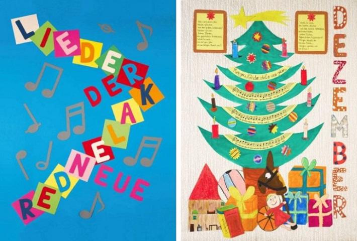 Neuer Liederkalender Titelblatt Kalenderblatt November