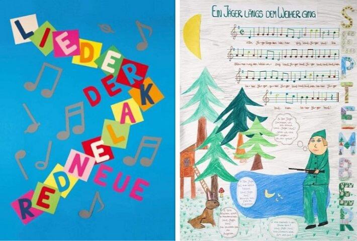 Neuer Liederkalender Titelblatt Kalenderblatt September