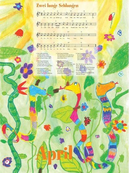 Liederkalender Klasse 0/1 Monatslied April