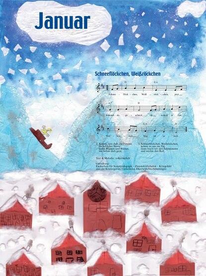 Liederkalender Klasse 0/1 Monatslied Januar