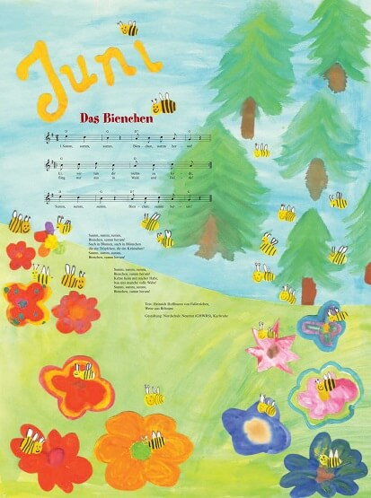 Liederkalender Klasse 0/1 Monatslied Juni