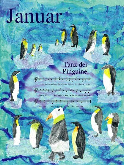 Liederkalender Klasse 1/2 Monatslied Januar
