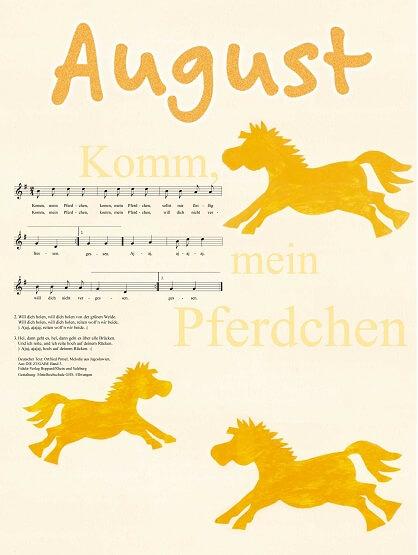 Liederkalender Klasse 2/3 Monatslied August