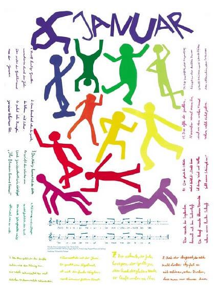 Liederkalender Klasse 2/3 Monatslied Januar