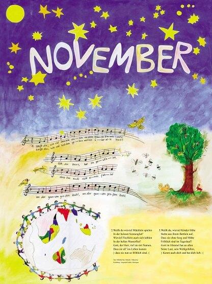 Liederkalender Klasse 2/3 Monatslied November