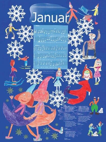 Liederkalender Klasse 3/4 Monatslied Januar