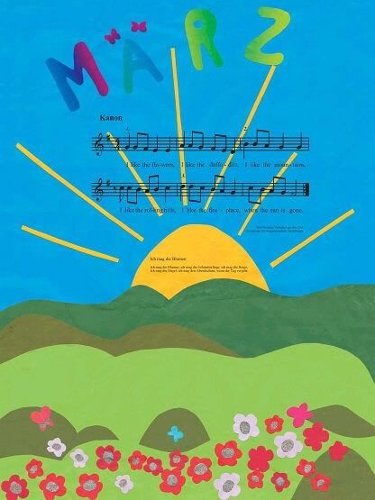 Liederkalender Klasse 3/4 Monatslied Maerz