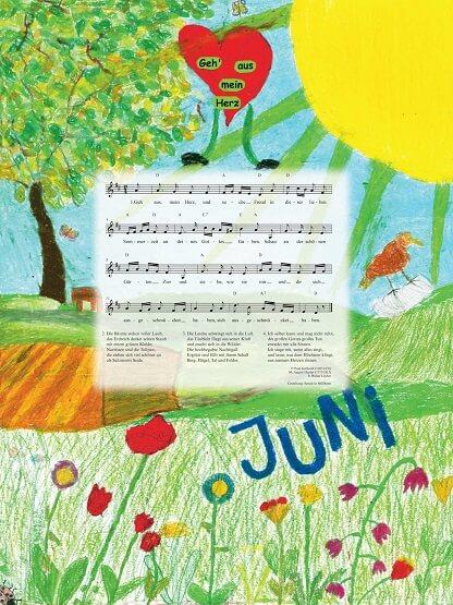 Liederkalender Klasse 4/5 Monatslied Juni