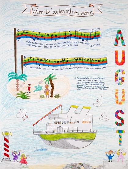 Neue Liederkalender Monat August