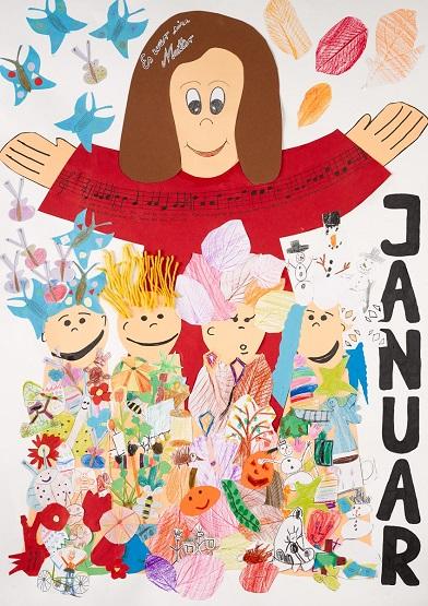 Neue Liederkalender Monat Januar