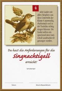 Singpass Singnachtigall Rückseite