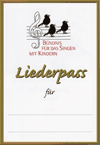 Liederpass Vorderseite